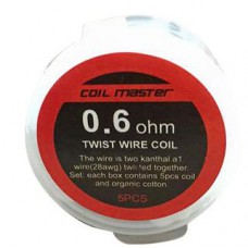 Coil Master Pre-Built Twisted Coil 0.6ohm